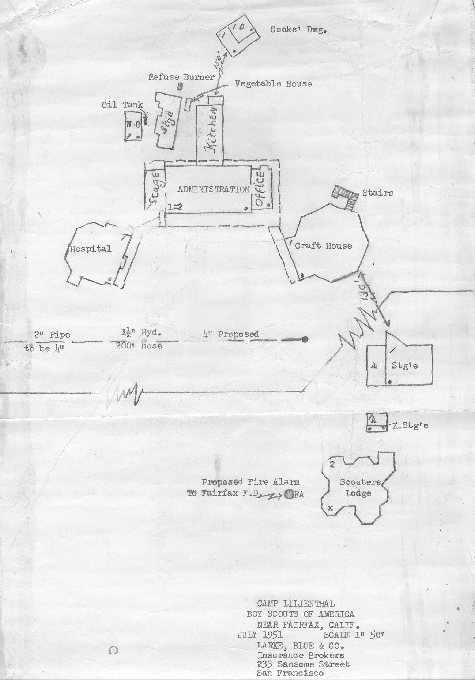 Camp Lilienthal drawings,1951